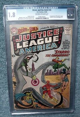 DC Comics CGC 1.8 BRAVE AND THE BOLD 28 1st justice league america wonder woman