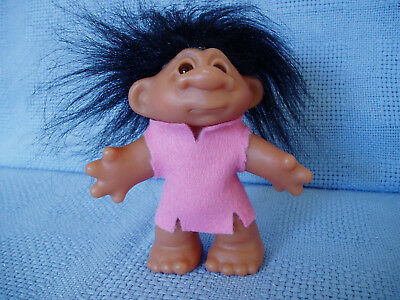 "Thomas Dam Troll Little Sister Funny Face 12 Cm 4.5"" Made In China 1986 * Vgc"