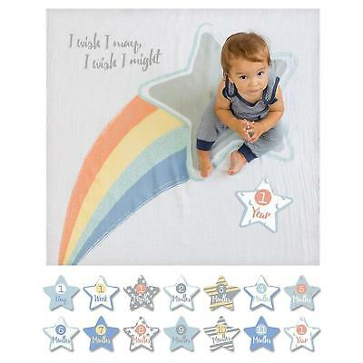lulujo Baby Baby's First Year Blanket and Card Set, I Wish I May