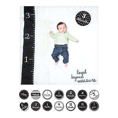 lulujo Baby Baby's First Year Blanket and Card Set, Loved Beyond Measure