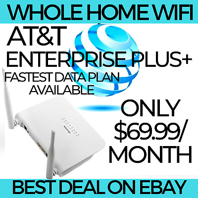 At&T 4G Lte Unlimited Home Wifi Zte Router No Throttling $34.99/Month Netgear