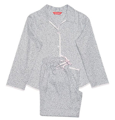 Girls pyjamas Age 8-9. Girls woven leaf print PJ set, Minijammies, REDUCED