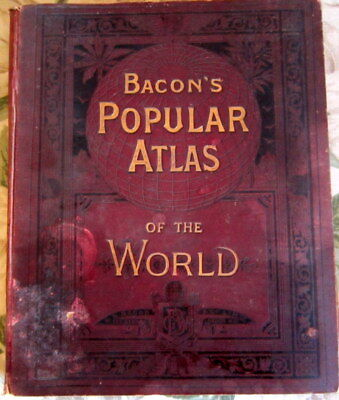 Bacon's Popular Atlas Of The World. 1894.