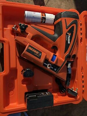 Paslode Im360 Cordless Frame Nail Gun Nailer First Fix 1nd Gas Finish