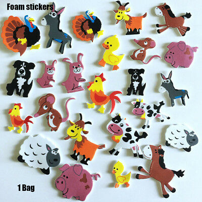 figure foam stickers Scrapbooking kit Decorations Cartoon School Reward