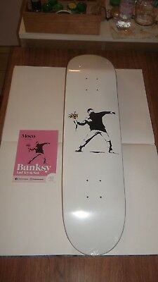 BANKSY Skate Skateboard Deck - FLOWER THROWER - Officiel shop Moco Museum