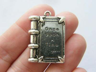 2 Once Upon a Time Connector Charms Antique Silver Tone SC3788