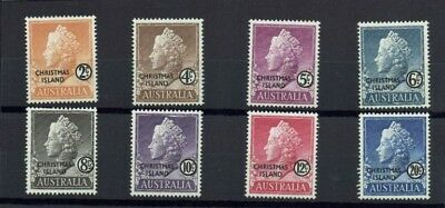 Christmas Island 1958 MLH 8 Stamps 2c to 20c - Short set