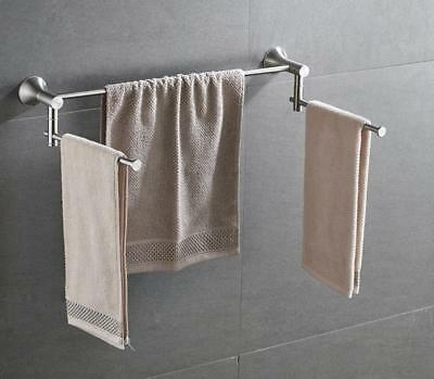 Bathroom Towel Rack Bar Rail Holder Stainless Steel Brushed Wall Mounted Hanger