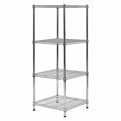 """New Muscle Rack 4-Level Wire Shelving Unit Garage (18""""W x 18""""D x 47""""H)"""