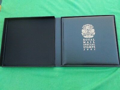 """ROYAL MAIL 2001 STAMPS YEAR BOOK """"THE STORIES BEHIND THE STAMPS"""" Complete"""