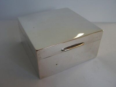 STYLISH VINTAGE SOLID STERLING SILVER  CIGARETTE TRINKET BOX WILLIAM NEAL & Sons