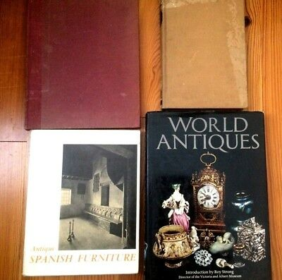 Collection Of 4 Reference Books On World Antiques & French & Spanish