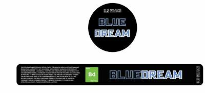 10x Blue Dream Presstin 100ml Cali Tin Labels