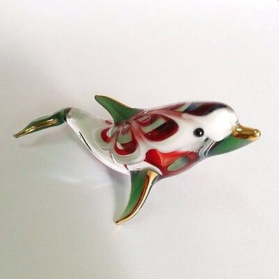 Blown Glass Figurine Miniature Decor Hand Fish Gift Collectibles Animal Dolphin