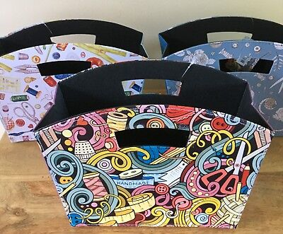 STORAGE TIDY sewing, knitting & crafts FOLDABLE PU leather 3 DESIGNS
