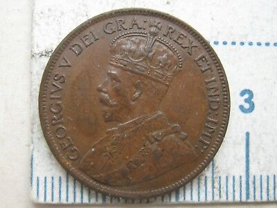 1919 Canada Copper 1 One Large Cent Penny  XF/AU !!!