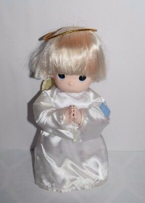 1998 Precious Moments Doll Vinyl Cloth Angel Halo Boy Timmy? Blonde Hair 12""