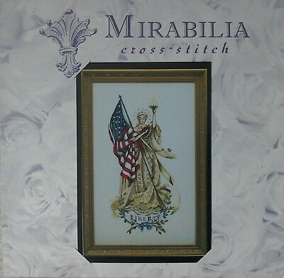 Mirabilia Lady of the Flag Cross stitch chart. New and unopened
