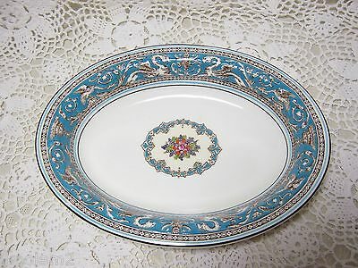 "Wedgwood Florentine Turquoise 9-3/4"" Oval Vegetable Bowl  -  W 2714"