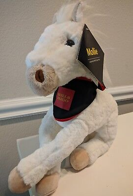 """HORSE PONY MOLLIE 13"""" white plush with tags LEGENDARY WELLS FARGO"""