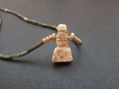 NILE  Ancient Egyptian Amulet Mummy Bead Necklace ca 300 BC