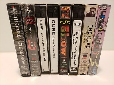 The Cure VHS Lot - In Orange/Staring at the Sea/Show/Picture Show/ Play Out LIVE