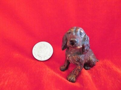 cold painted bronze dog figurine