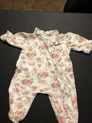 Floral Footed Outfit - Newborn