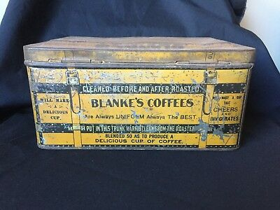 Vintage C. F. Blanke Tea and Coffee Co. Happy Thoughts Coffee Tin