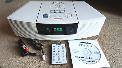 Bose Wave Radio C/D AWRC3P With remote, aerial & MP3 cable + manuals on CD.