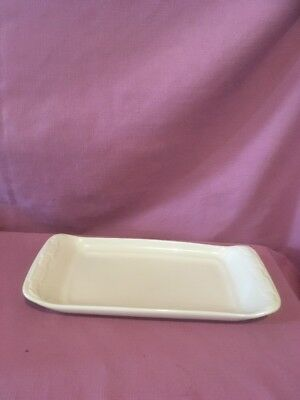 *Longaberger Pottery Appetizer Tray Woven Traditions Ivory  3204990    O
