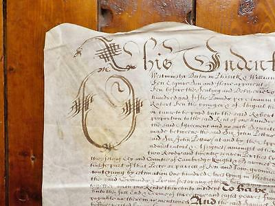 1657 Isle of Ely Waldensey Cambridgeshire 17th century Vellum Deed Indenture