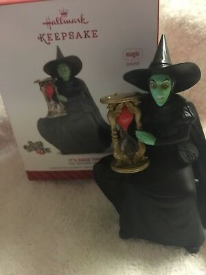 "Hallmark The Wizard of Oz ""It's Shoe Time"" 2014 Magic Ornament Wicked Witch NIB"