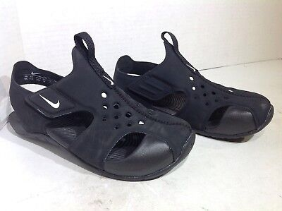 deaed5e9815 ... new zealand nike toddler size 12 sunray protect 2 black white water  shoes sandals f6 67