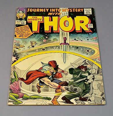 Journey Into Mystery with Thor # 111 marvel comic graded 3.5 VG- 1st printing!