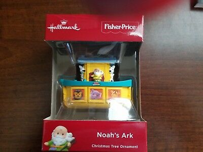 MIB Hallmark 2018 Fisher Price NOAH'S ARK Red Box Ornament - FREE SHIPPING