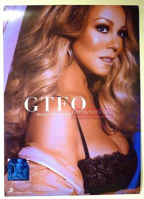 Mariah Carey 2018 CAUTION Taiwan Official 2-sides Promo Poster NEW! GTFO