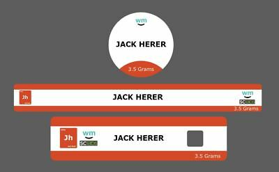 10x Jack herer Cali Tin Labels Slaps