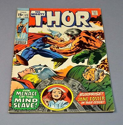 The Mighty Thor # 172 marvel comic graded 6.0 FN 1st printing!
