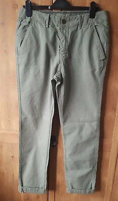 da4f9c7db3 Fat Face Mens Harbour Style Cotton Straight Leg Chinos Trousers 32R Green  Bnwot