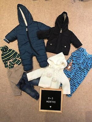 Baby Boy, Unisex Winter Clothes Bundle 0-3 Months