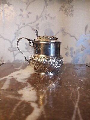 Solid Silver Large Mustard Pot