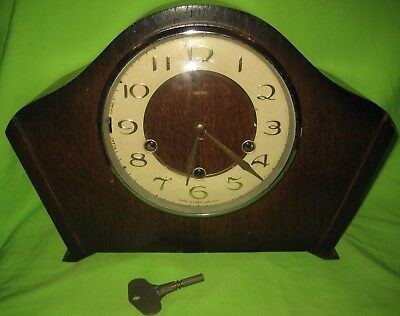 Smiths Mantle Clock,  with Key and Pendulum