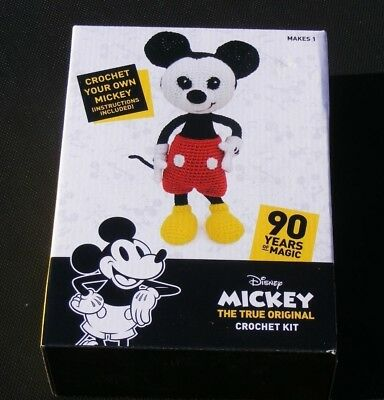 New Disney Mickey Mouse Soft Toy Crochet Kit:90 Years