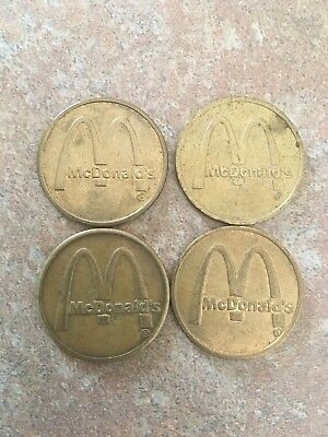 McDonald's Arcade Tokens - Lot of Four Tokens