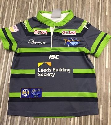 Leeds Rhinos Childs Rugby Top Size 4T