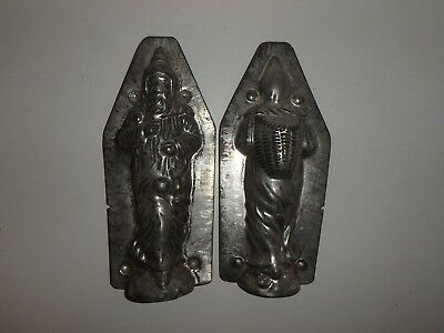 Antik Schokoladenform NIKOLAUS WEIHNACHTSMANN antique chocolate mold SANTA CLAUS