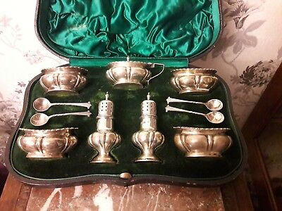 Solid Silver Condiments Walker & Hall