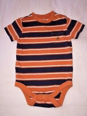 a9ad9765f902 CUTEST! Gap Baby Boy s Striped Footed One piece 6-9 Months Excellent ...